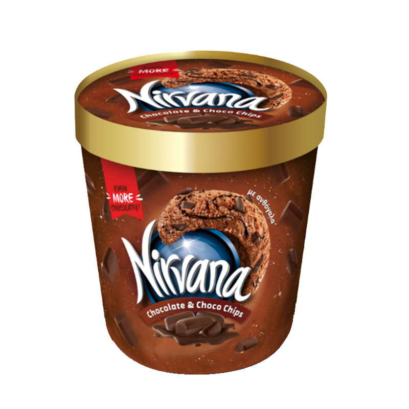 NIRVANA Chocolate & Choco Chips 0.85L